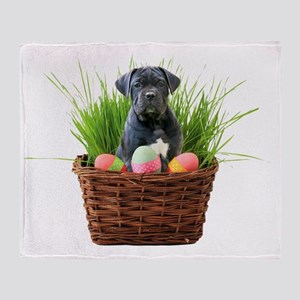 Easter Cane Corso puppy Plush Fleece Throw Blanket