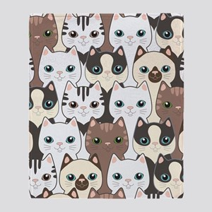 Cute Cats Throw Blanket