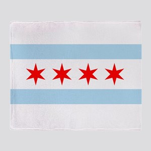Flag of Chicago Throw Blanket