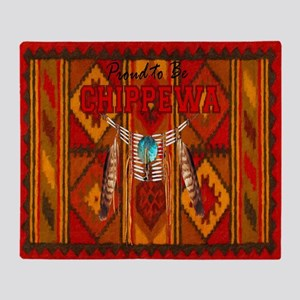 Proud to be Chippewa Throw Blanket