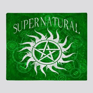 Supernatural Green Throw Blanket