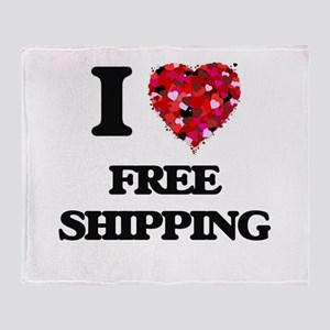 I love Free Shipping Throw Blanket