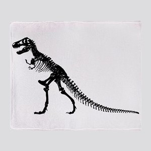 T-Rex Skeleton Throw Blanket
