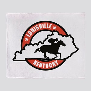Louisville Kentucky Throw Blanket