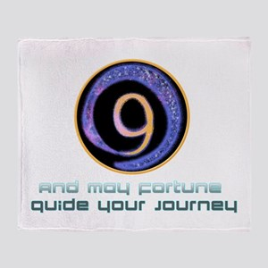 May fortune guide your journey Throw Blanket