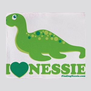 I Love Nessie Throw Blanket