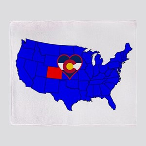 State of Colorado Throw Blanket