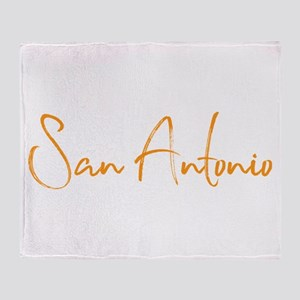 San Antonio TX Throw Blanket