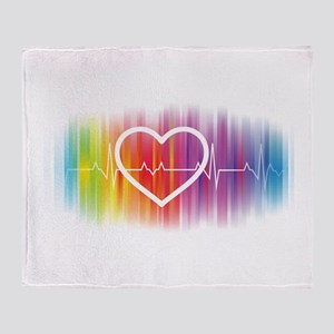 Gay Heartbeat Throw Blanket