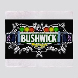 Bushwick Brooklyn NYC (Black) Throw Blanket