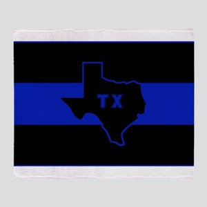 Thin Blue Line - Texas Throw Blanket