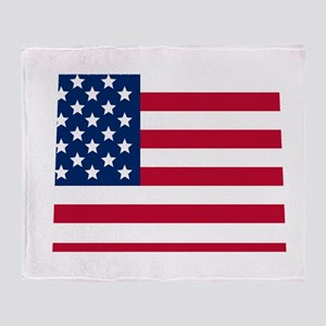 Colorado American Flag Throw Blanket