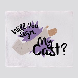 Sign My Cast Throw Blanket