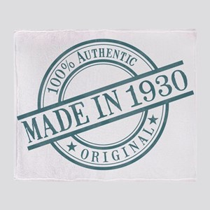 Made in 1930 Throw Blanket