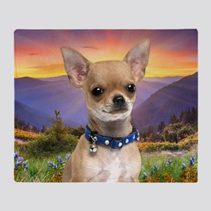 Chihuahua Meadow Throw Blanket