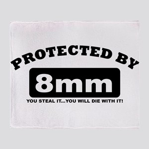 property of protected by 8mm b Throw Blanket