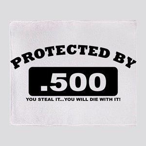 property of protected by 500 b Throw Blanket