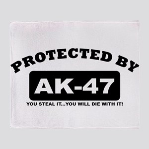 property of protected by ak47 b Throw Blanket