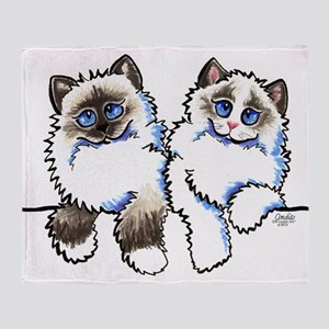 Ragdolls Pair Off-Leash Art™ Throw Blanket