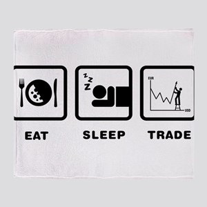 Forex / Stock Trader Throw Blanket