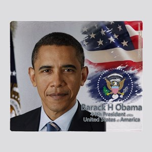 Obama Calendar 001 cover Throw Blanket