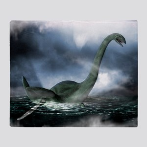 Loch Ness monster, artwork - Throw Blanket