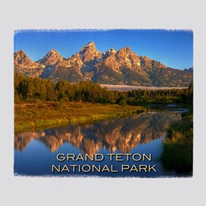 Tetons2 Throw Blanket