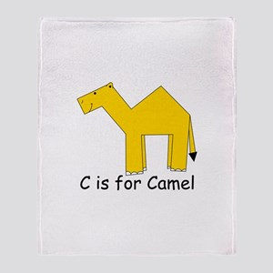 C Is For Camel Throw Blanket