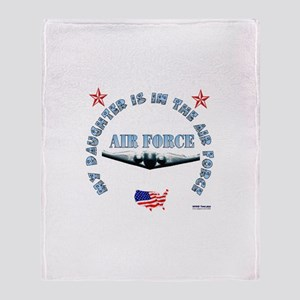 Air Force Daughter Throw Blanket