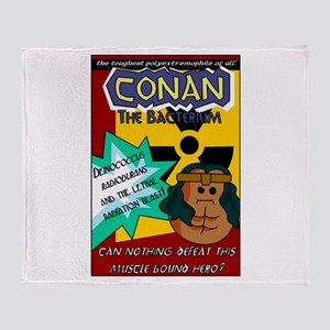 Conan the Bacterium Throw Blanket