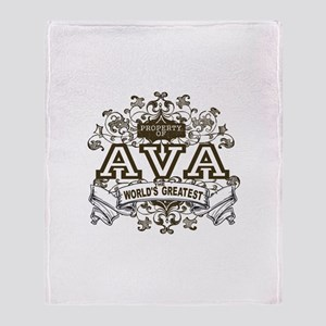 Property Of Ava Throw Blanket