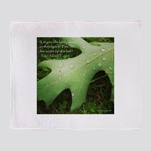 Inspirational Quotation Throw Blanket