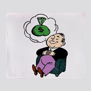 Dreaming Of Money Throw Blanket