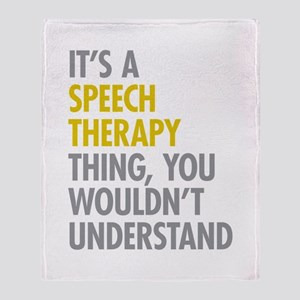 My Mom Is A Speech Therapist Blankets - CafePress