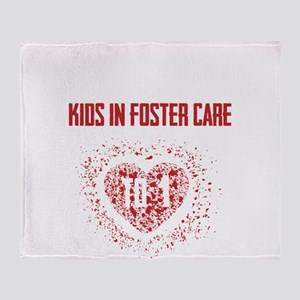 Make a Difference to a Foster Child Throw Blanket