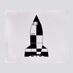 V2 German World War 2 Rocket Cartoon Throw Blanket