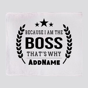 Gifts for Boss Personalized Throw Blanket