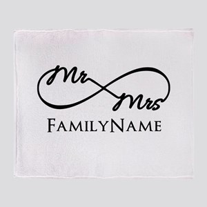 Custom Infinity Mr. and Mrs. Throw Blanket