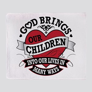 Adoption Tattoo Throw Blanket