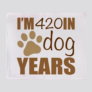 60th Birthday Dog Years Throw Blanket
