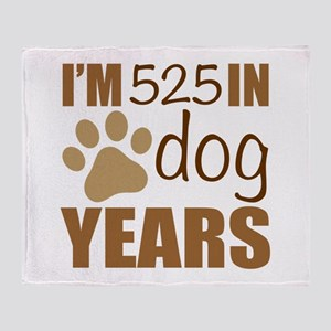 75th Birthday Dog Years Throw Blanket