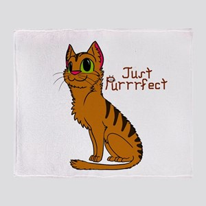 Just Purrrfect Throw Blanket