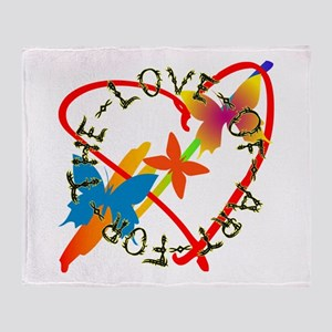 For The Love Of Art Throw Blanket
