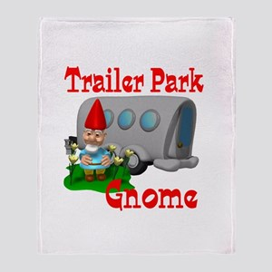 Trailer Park Gnome Throw Blanket