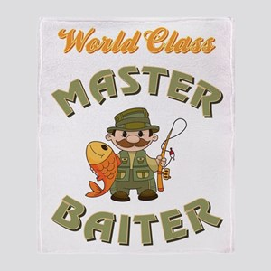 MASTER BAITER Throw Blanket
