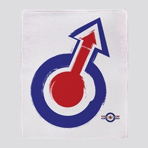 39fc7e591 painted style mod target and arrow Throw Blanket