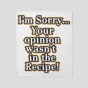 Funny Sayings Blankets - CafePress