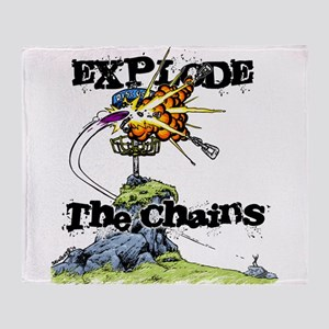 b23c6f1193133 Disc Golf EXPLODE THE CHAINS Throw Blanket