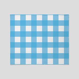 18429589360 Gingham Blue Checks Throw Blanket