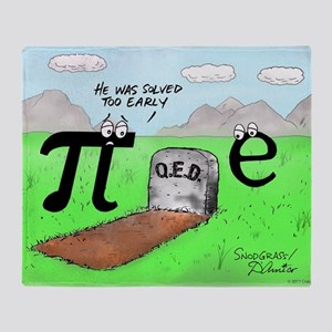 Pi_72 QED Gravestone (10x10 Color) Throw Blanket